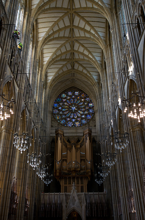 Lancing College Chapel - rose window and organ