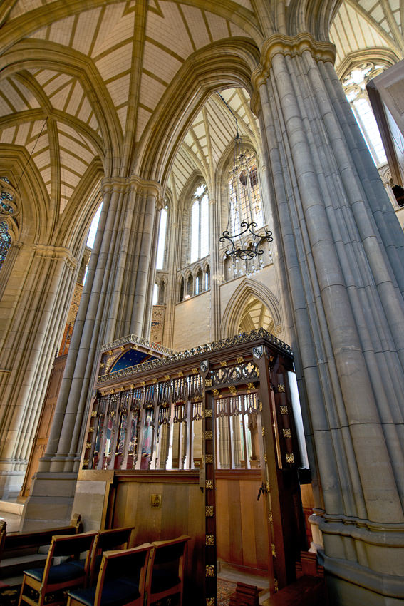 Lancing College Chapel - the wooden chantry chapel in the north aisle