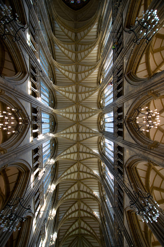 Lancing College Chapel - vaulted ceiling
