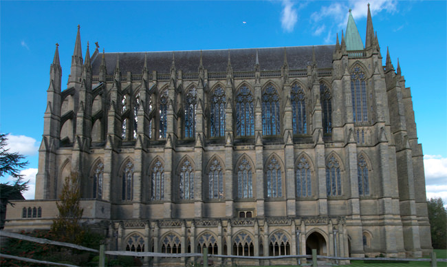 Lancing College Chapel - southern façade