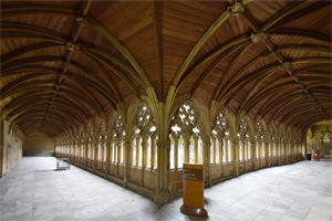 Lincoln's cloisters, unusually wood atop stone