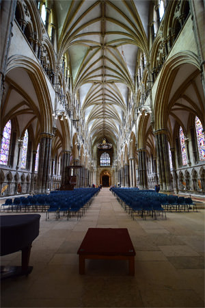 Lincoln Cathedral's 24 metre high nave