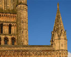 Detail of the west front of Lincoln Cathedral