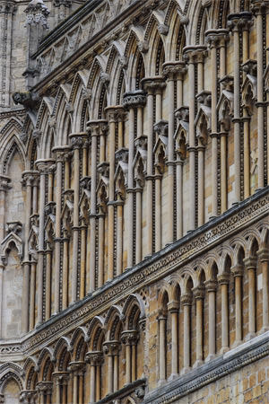 Tier upon tier of the west front of Lincoln Cathedral