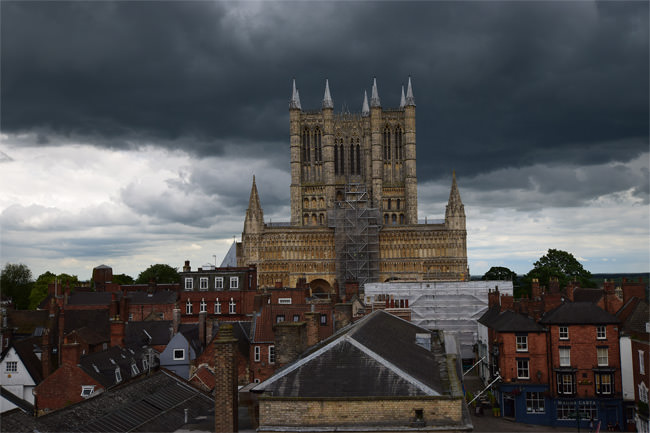 Lincoln Cathedral, viewed from Lincoln Castle