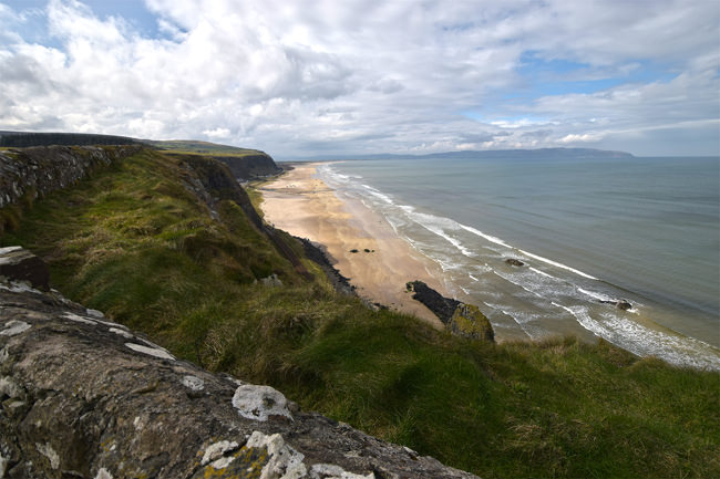 The north coast looking west from Mussenden Temple