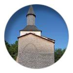 4/9 Shingle tiles on Mimizan Priory's bell tower