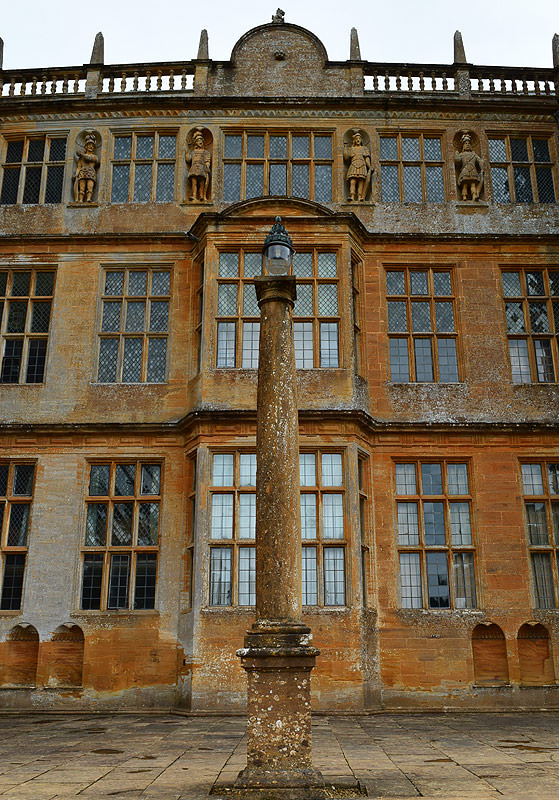 Detail of the east façade of Montacute House