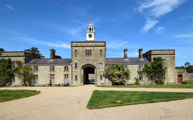 Parham House, courtyard