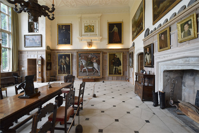 Parham House, the Great Hall, south and west walls