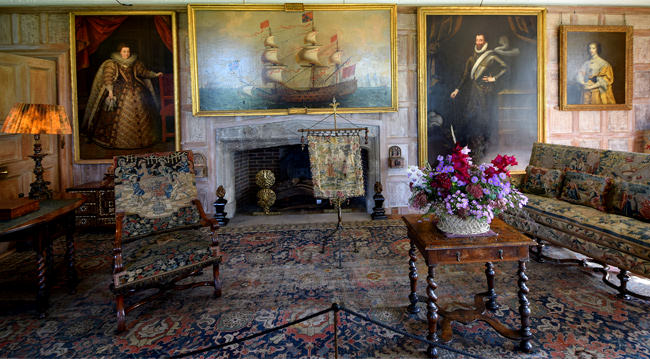 Parham House, the Great Parlour, east wall