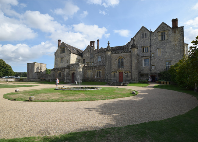 Parham House, the courtyard