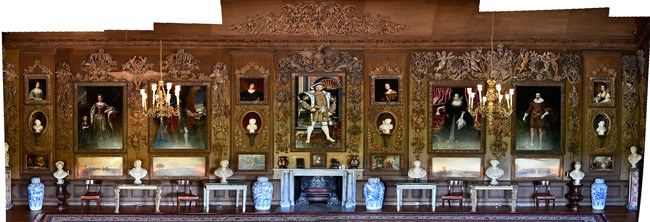 23/23 A stitched panorama of Petworth's Grinling Gibbons's Carved Room