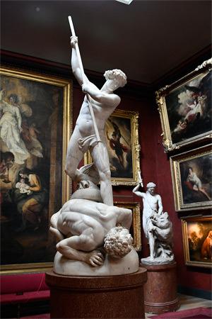 10/23 Petworth House North Gallery, St. Michael overcoming Satan by John Flaxman