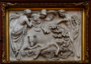 12/23 Petworth House sculpture, The Dream of Horace by Sir Richard Westmacott