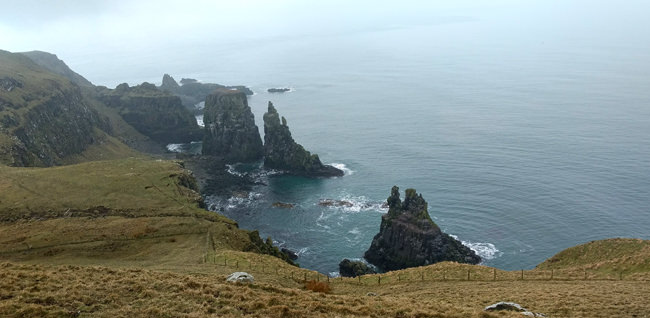 4/6 The southern aspect of Rathlin Island's West Light RSPB Reserve
