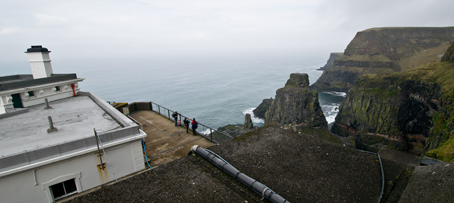 3/6 The viewing platform at Rathlin Island's West Light RSPB Reserve