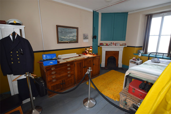 2/6 Rathlin Island's West Light - the restored Keeper's Room