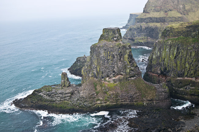 5/6 The northern aspect of Rathlin Island's West Light RSPB Reserve