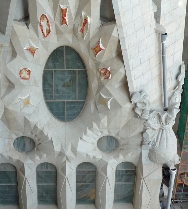 Downspout detailing on La Sagrada Familia