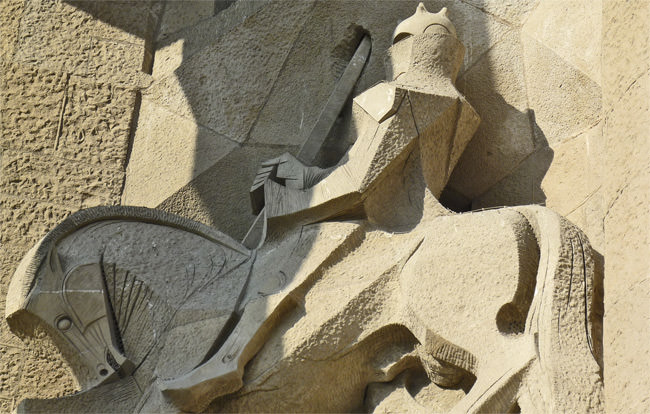 La Sagrada Familia - the centurion Longinus on the Passion façade