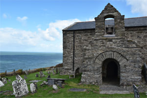 3/8 The south-facing bellcote of St. Celynin's Church at Llangelynnin