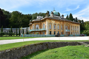 2/12 Sezincote, south and east façades, from beyond the ha-ha