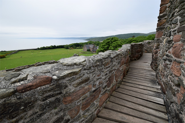 Skipness Castle - view from the tower roof