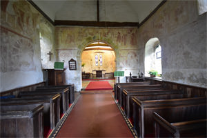 Frescoes in St Botolph's Church, Hardham