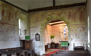 Frescoes in the nave and chancel of St Botolph's Church, Hardham