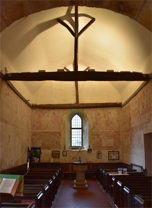 Frescoes in the nave of St Botolph's Church, Hardham
