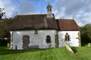 St Botolph's Church, Hardham, West Sussex - the south façade
