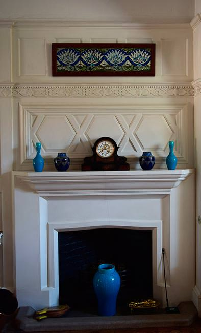 Standen House, billiard room chimney breast
