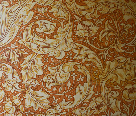 William Morris wallpaper, Standen House staircase