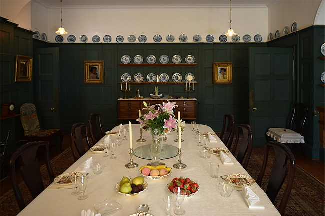 Standen House's memorable dining room panelling