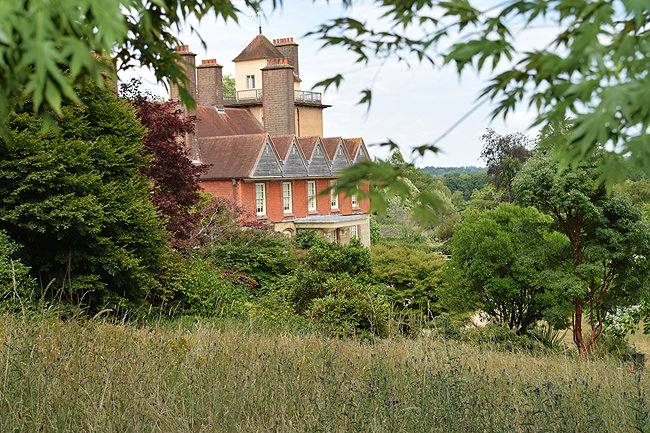 Standen House, hillside glimpse