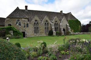 The 13th century great hall of Stokesay Castle