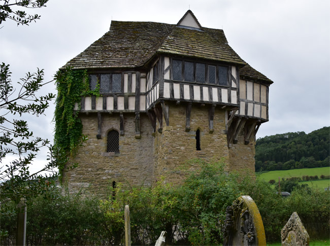 Stokesay Castle's north tower