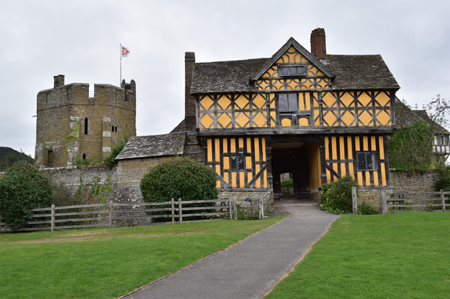 The 17th century gatehouse of Stokesay Castle