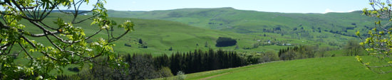 Valleys nestled in the high Cantal