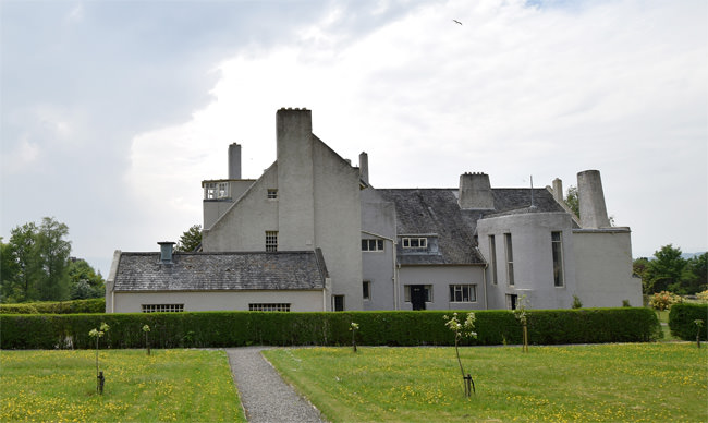 The north façade of The Hill House