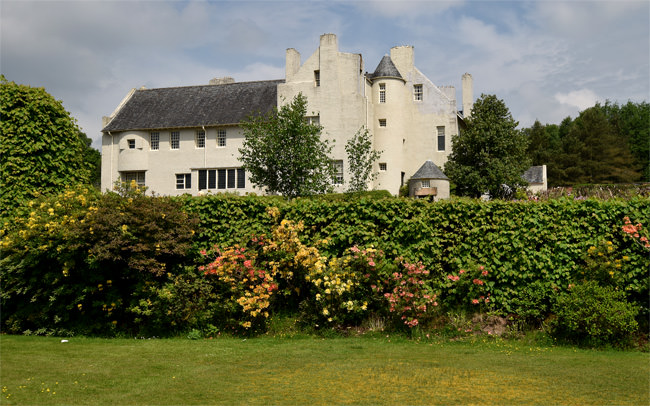 The south façade of The Hill House