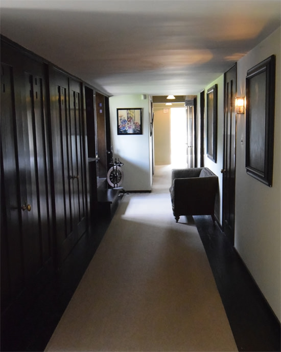 The upstairs landing