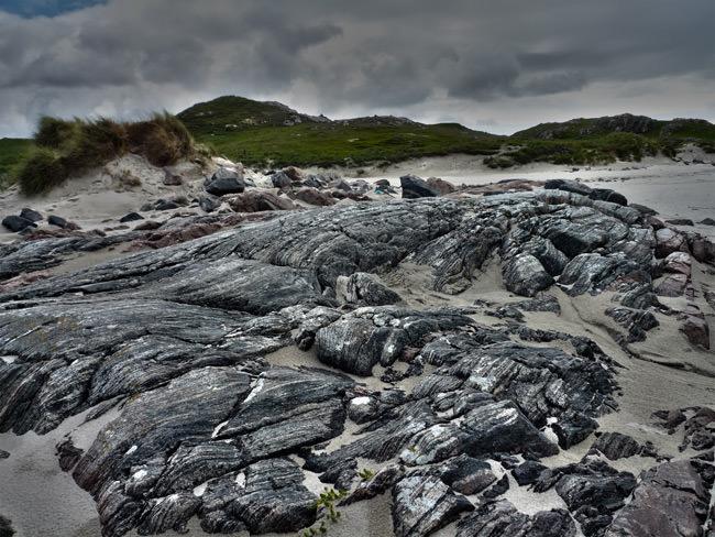 Gneiss rocks on Uig Sands, Isle of Lewis