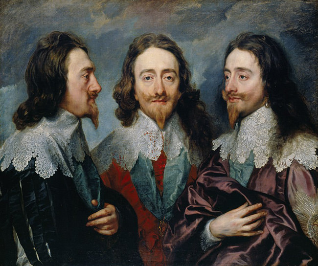 King Charles in Three Positions by Anthony van Dyck