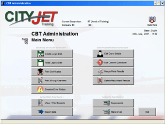 CBT Administration Module (CityJet)